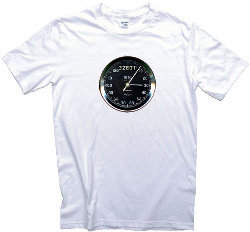 Smiths Speedometer T Shirt. 12 Sizes. Speedo Gauge Motorcycle Motorbike Gift